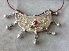 Ethiopian Jewelry, Ethnic Jewelry, Boho Jewelry, Jewellery, Unique Jewelry, Eritrean, Glass Center, Red Glass, Africa