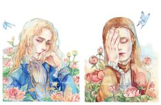 Lestat and Louis from Vampire Chronicles by Anne Rice Watercolor on Canson paper 200 gsm My style start to change again hope you all don't mind :') ----. Gothic Vampire, Vampire Art, Anne Rice Vampire Chronicles, Lestat And Louis, Blood Art, Interview With The Vampire, Drama Queens, Tom Cruise, Princess Zelda
