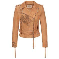 Biker Jacket Tod's Tattoo-Inspired in Pelle Scamosciata X1W0934112ELKFC604