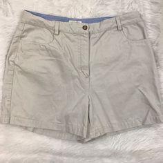 Christopher Banks Camp Shorts Khaki Flat Front Pockets COTTON Size 12 EUC  | eBay
