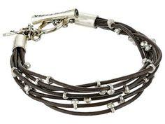Lucky Brand - Silver Leather Bracelet (Silver) Bracelet