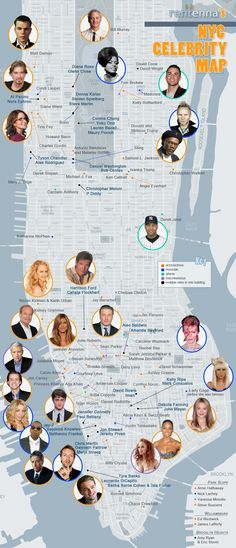 New York is teeming with celebrities. Anyone know where they all live? Well, it's not very New York to care, really. We just assumed they were always within earshot (which is why we always lower our voice when talking about Paul Giamatti). There was this New York Magazine map back in 2006, but since then we haven't seen much in the way of those Hollywood maps everyone buys in LA. Enter Rentenna, a search tool for New York apartments, who's made a handy-dandy map of their own.