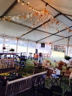 Marquee country vintage wedding