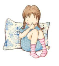 Cute little girl character