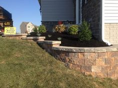 Front Yard Retaining Wall Idea & Landscape Installation in Hanover PA by Ryan's Landscaping