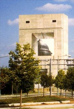 D.C. mural of the Nation's Capitol Building.