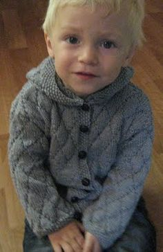 hundreds & thousands: Vintage Baby Knits boy cable hoodie