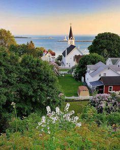Mackinack Island, Michigan.  I love the water.