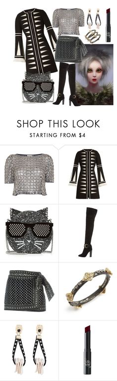 """Club Emo Pixie Dream Grrl"" by pampire ❤ liked on Polyvore featuring Temperley London, Andrew Gn, Karl Lagerfeld, Giuseppe Zanotti, Étoile Isabel Marant, Armenta and Rituel de Fille"