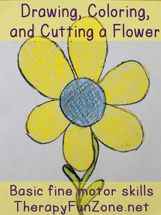 drawing-coloring-and-cutting-a-flower