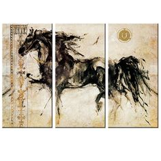 Cheap painting horse, Buy Quality posters and prints directly from China wall art Suppliers: Canvas Painting Horse Painting No Frame Modern Animal Wall Picture Poster and Print Wall Art Canvas Painting Home Decor 3 Pieces