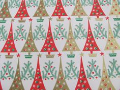 Vintage Retro Wrapping Paper Sheet Unused by TotallyOldSchool