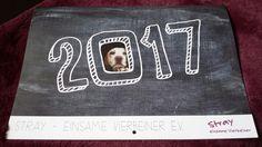 """Der neue Kalender ist da. Mit seinem Kauf unterstützt man die Vierbeiner in Griechenland. Der Kalender ist außergewöhnlich.  Zu erhalten unter """"Stray-einsame Vierbeiner.de"""""""