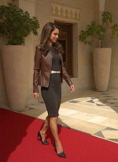 Rania de Jordania vuelve a ejercer de anfitriona en palacio