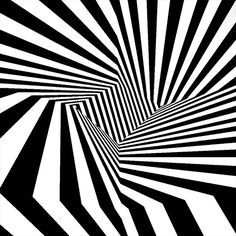 Black and White Op Art and Lies Optical Illusion Gif, Cool Optical Illusions, Illusion Art, Cool Animated Gifs, Cool Animations, Op Art, Black And White Lines, Gif Animé, 3d Animation