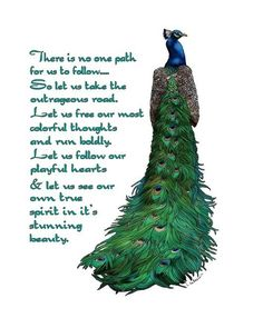 Peacock Art Inspiring Words Art Print by LynndeeLeBeau on Etsy Peacock Quotes, Peacock Art, Peacock Tattoo, Peacock Decor, Peacock Crafts, Peacock Images, Peacock Nails, Peacock Pictures, Feathers