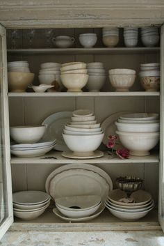 Best way to fill a cabinet! ANTIQUE IRONSTONE