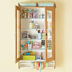 Cute Ways to Organize Crafts Supplies
