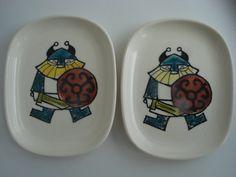 Happy Viking Plates Scandinavian Stavangerflint Norway by CodDiva