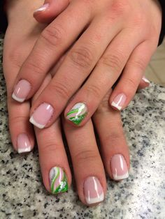 Gel manicure with french