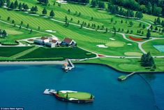 nice The floating golf green that can only be reached by boat