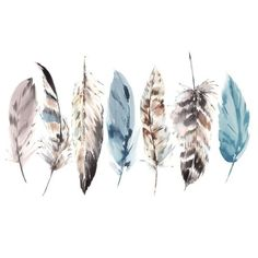 Couture Watercolour Feathers Ready Made Mural - GrahamBrownUK Watercolor Tattoo Feather, Feather Drawing, Watercolor Brush Pen, Feather Painting, Feather Art, Easy Watercolor, Feather Tattoos, Abstract Watercolor, Watercolour Painting