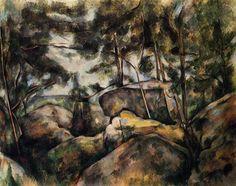 Rocks at Fountainebleau - Paul Cezanne 1893 Metropolitan Museum of Art
