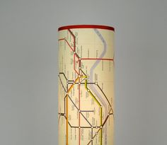 London Map Lamp in telephone box red or wood by WhimsyHome on Etsy, $130.00