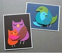 Cartão para o dia das mães, modelo coruja e passarinho. Pode usar ...