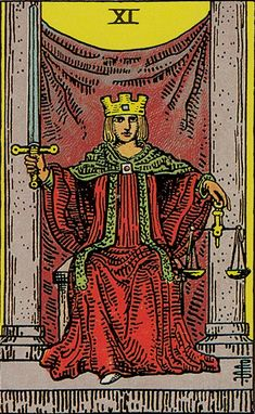 The origins of the Tarot are surrounded with myth and lore. The Tarot has been thought to come from places like India, Egypt, China and Morocco. Others say the Tarot was brought to us fr Major Arcana Cards, Tarot Major Arcana, Tarot Astrologico, Justice Tarot, Tarot Rider Waite, Tarot Waite, Rose Croix, Free Tarot Reading, Tarot Decks