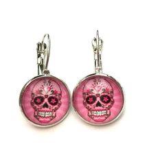 Pink skeleton earrings Pink skeleton earrings Jewelry Earrings