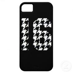 Sweet Sixteen Houndstooth Print iPhone 5 Cover