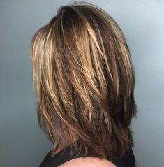 60 Most Universal Modern Shag Haircut Solutions Medium Feathered Cut for Thick Hair Medium Layered Haircuts, Medium Hair Cuts, Short Hair Cuts, Medium Hair Styles, Short Hair Styles, Cuts For Thick Hair, Thin Hair, Haircuts For Medium Length Hair, Hairstyles For Medium Length Hair With Layers