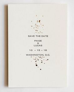 Miks Letterpress Gold Foil and Letterpress Save the Date | Elegant Save the Date | Simple Wedding Save the Date