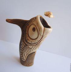 Статуэтка из рога оленя и бивня мамонта - Рыбья охота – купить или заказать в интернет-магазине на Ярмарке Мастеров   Уникальная, существующая в единственном…