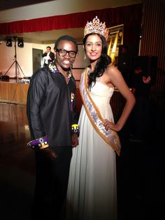 With miss Global United..