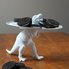 DIY Dinosaur Serving Dish by threelittlemonkeysstudio #DIY #Serving_Dish #Dinosaur