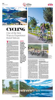 Cycling, One of the Best Way to Experience Rural Taiwan|Epoch Taste #Travel #newspaper #editorialdesign