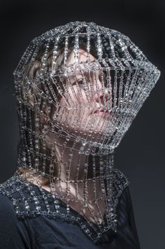 Wearable Glass Objects and Sculptures by Kit Paulson - Electronics gadgets,Electronics apple,Electronics for teens,Electronics organization,Electronics projects Bob Mackie, Diana Ross, Viktor & Rolf, Recycled Dress, Carapace, Eiko Ishioka, Colossal Art, Origami Fashion, Fashion Mask