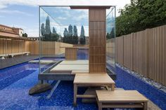 glass tea house pavilion by hiroshi sugimoto