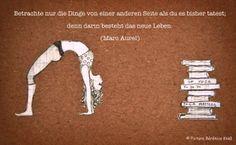 Marc Aurel, Yoga Zitat, Yoga Pose, Illustration