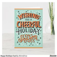 Happy Holidays Card Christmas Greetings, Holiday Cards, Business Supplies, Party Hats, Happy Holidays, Kids Shop, Birthday Parties, Anniversary Parties, Birthday Celebrations