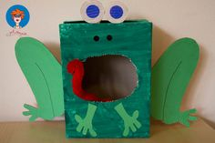 Crafts,Actvities and Worksheets for Preschool,Toddler and Kindergarten.Lots of worksheets and coloring pages. Frog Theme Preschool, Frog Activities, Animal Crafts For Kids, Kids Crafts, Frog Crafts, Funky Art, Free Boxes, School Holidays, Recycled Art