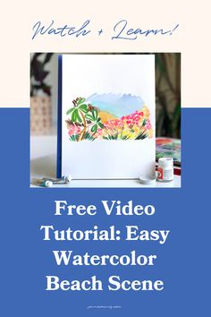 An easy watercolor beach scene tutorial! Lately I've been painting and posting these loose, strokey, flowy landscapes and the feedback I've gotten from all of you has been incredible. I'm here to teach you how it's done from inspiration photos to color palettes and final creation. Happy Little Trees, Step By Step Watercolor, Awkward Funny, Beach Watercolor, Pebble Painting, Beach Scenes, Watercolor Techniques, Learn To Paint, Creative Business