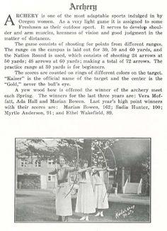 UO women's athletics 1917-18.  From the 1919 Oregana (University of Oregon yearbook).  www.CampusAttic.com