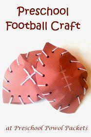 Preschool Powol Packets: Football Preschool Craft