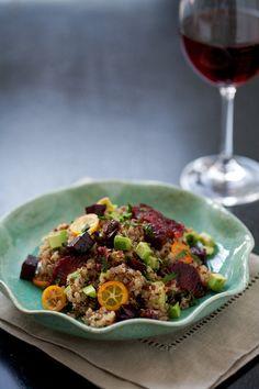 Gojee - Beet, Blood Orange, Kumquat, and Quinoa Salad by Love and Olive Oil