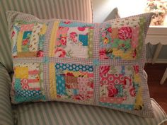 Pretty pillowcase!  Make log cabin front, finish with envelope back