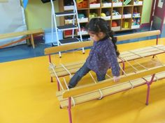 """Stepping over """"layers"""" for - balance - praxis - trunk and pelvic stability - vision Gross Motor Activities, Gross Motor Skills, Physical Activities, Physical Education, Activities For Kids, Preschool Gymnastics, Kids Motor, Pe Lessons, Games For Fun"""