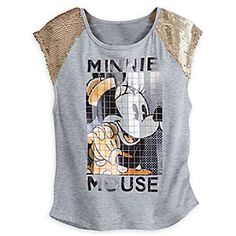 Disney Minnie Mouse Mosaic Tee for Women | Disney StoreMinnie Mouse Mosaic Tee for Women - You'll take the spotlight while wearing this gorgeous tee featuring mosiac-like screen art of the lovely Minnie Mouse and sequined cap sleeves for that extra special sparkle.